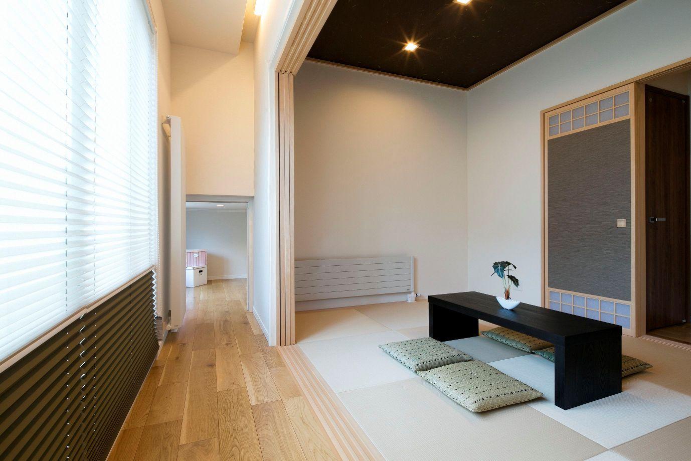 ハウスM21「新発想、中2階へ下りる主寝室」和室写真