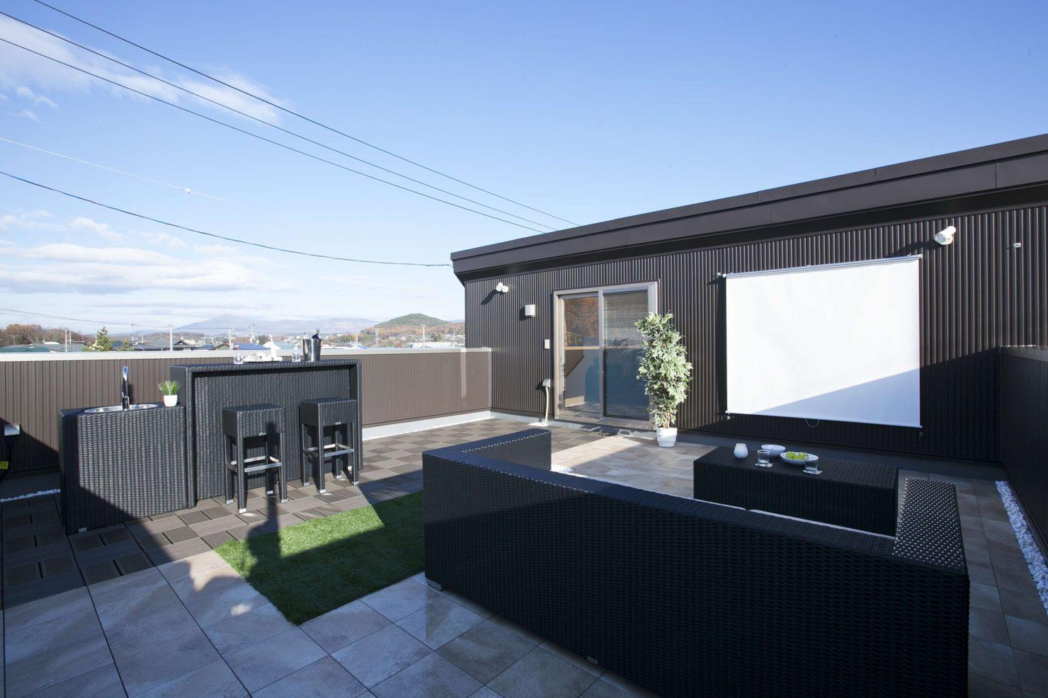 ハウスM21「プラスONEリビング (屋上庭園のある暮らし)」屋上庭園写真