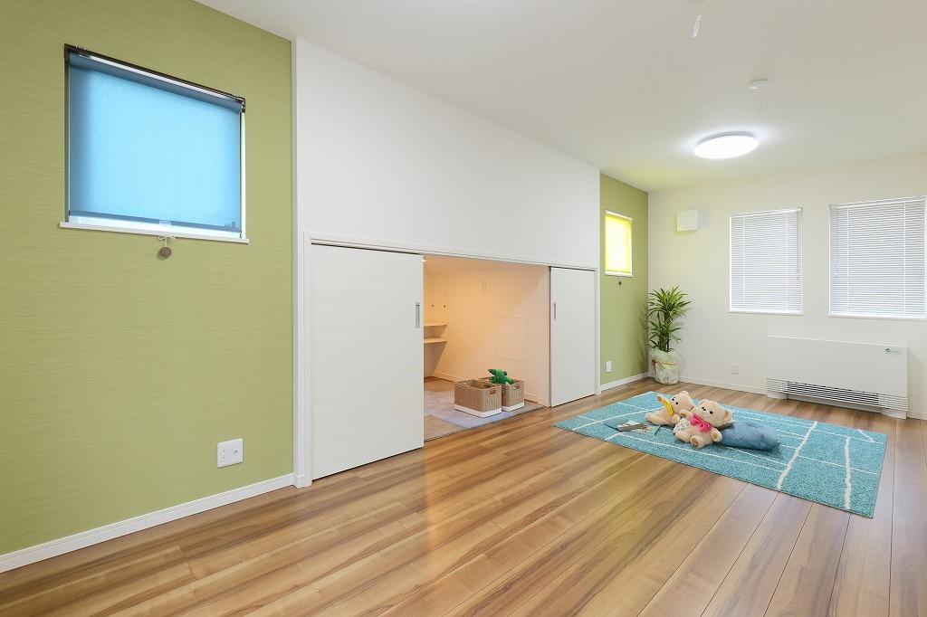 ハウスM21「子供を規則正しい生活習慣へ導く住まい」子供室写真