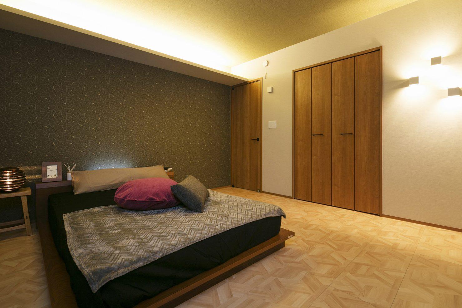 ハウスM21「豊かさと快適さの追求」寝室写真