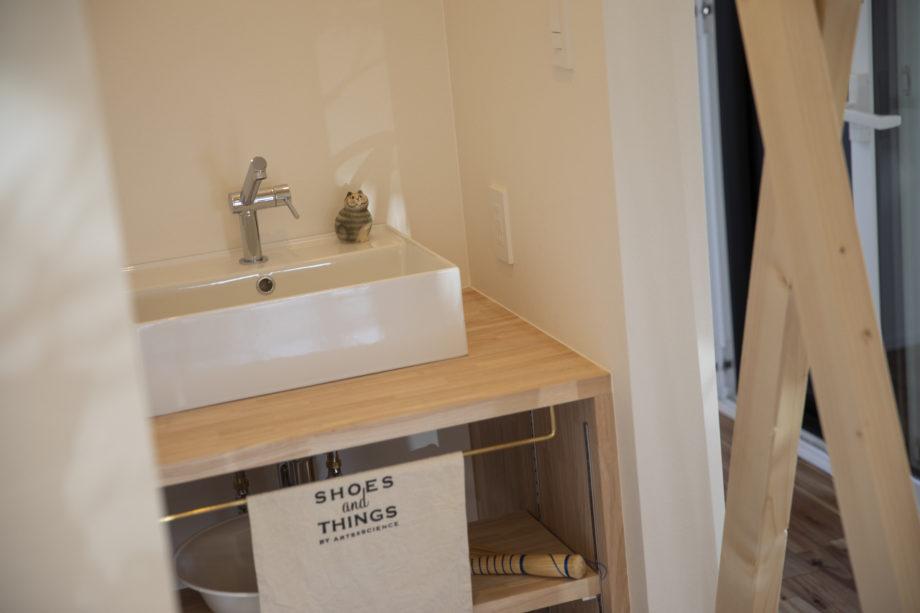 ハウスM21 盛岡市高松モデルハウス 写真「洗面手洗い」