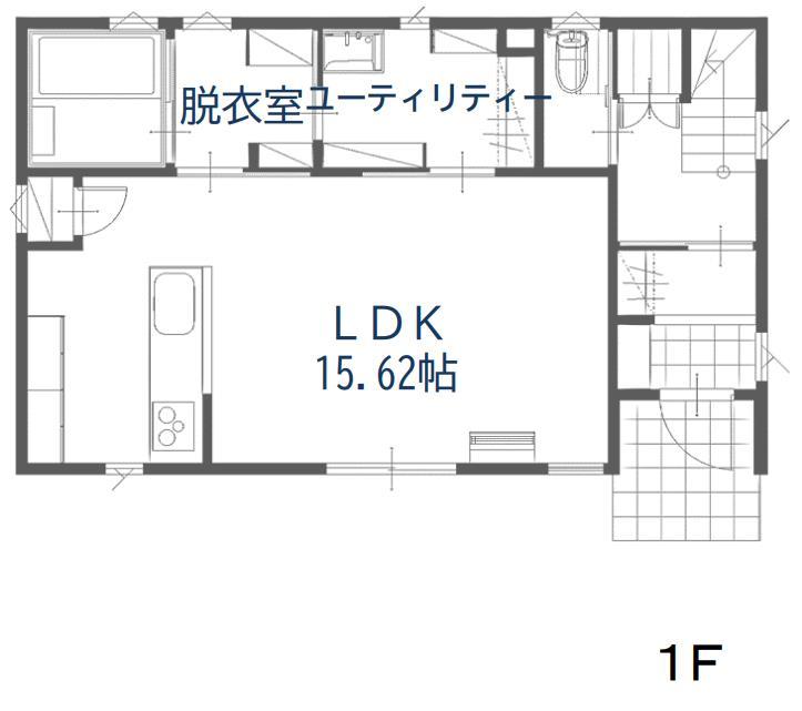 ハウスM21 盛岡市黒石野建売住宅 1F図面