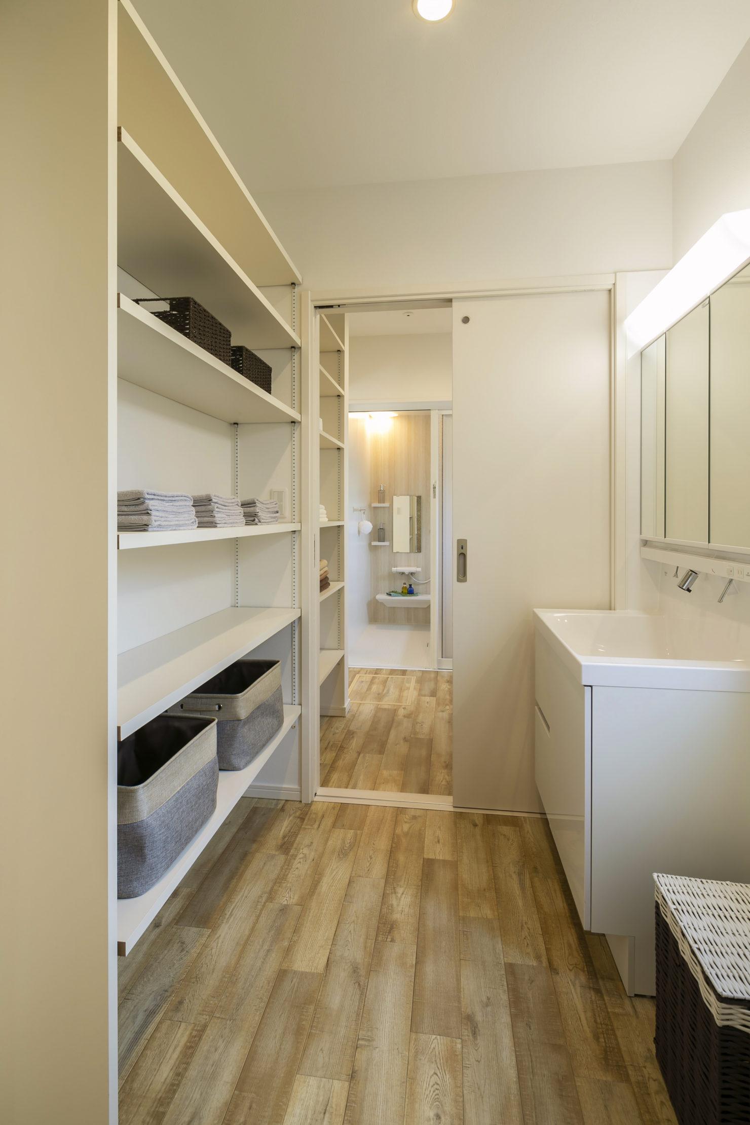 ハウスM21 盛岡市黒石野建売住宅 脱衣室写真