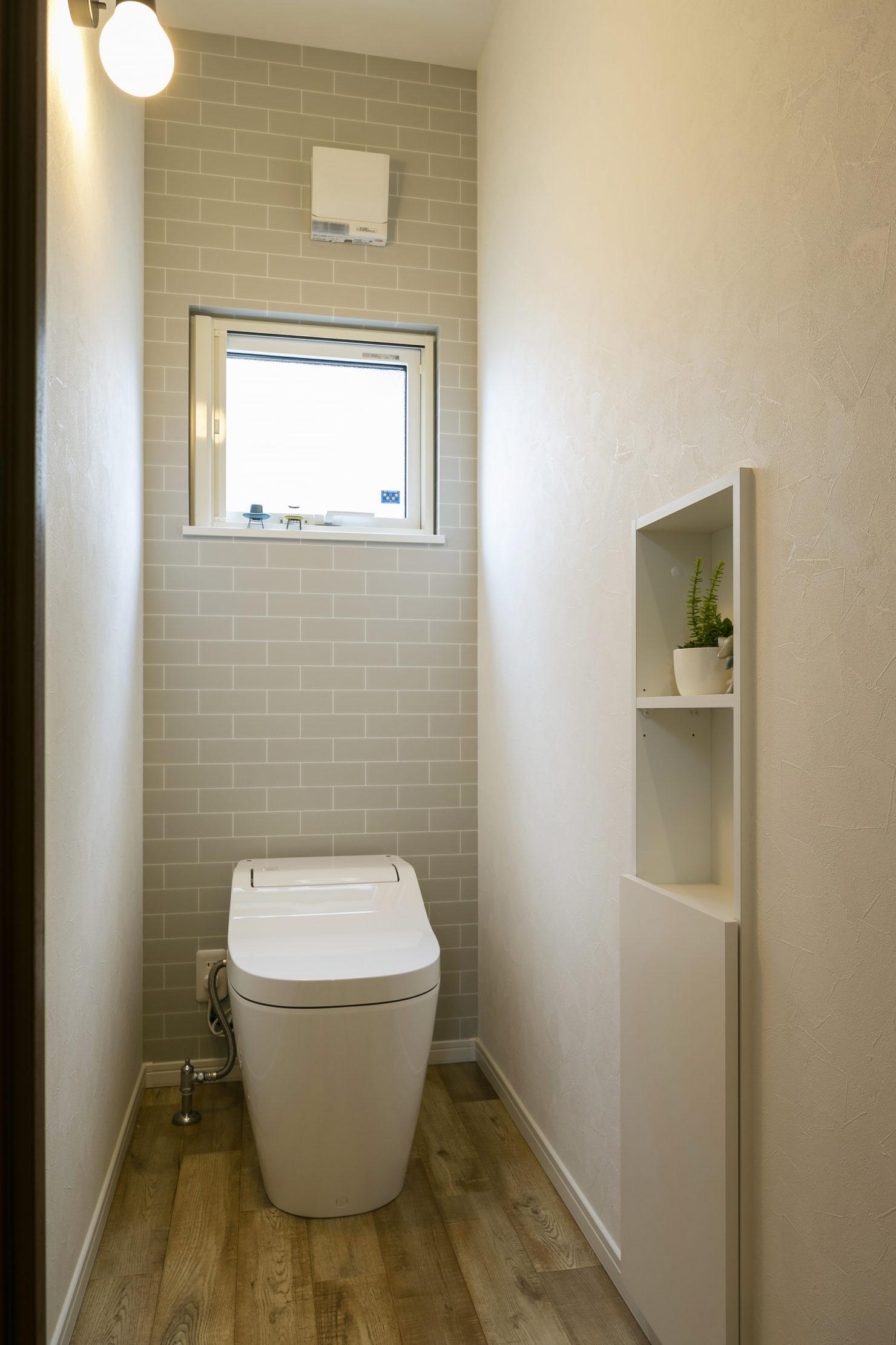 ハウスM21「実用的なオールラウンド動線とスキップフロアなどの面白い・楽しい空間」トイレ写真
