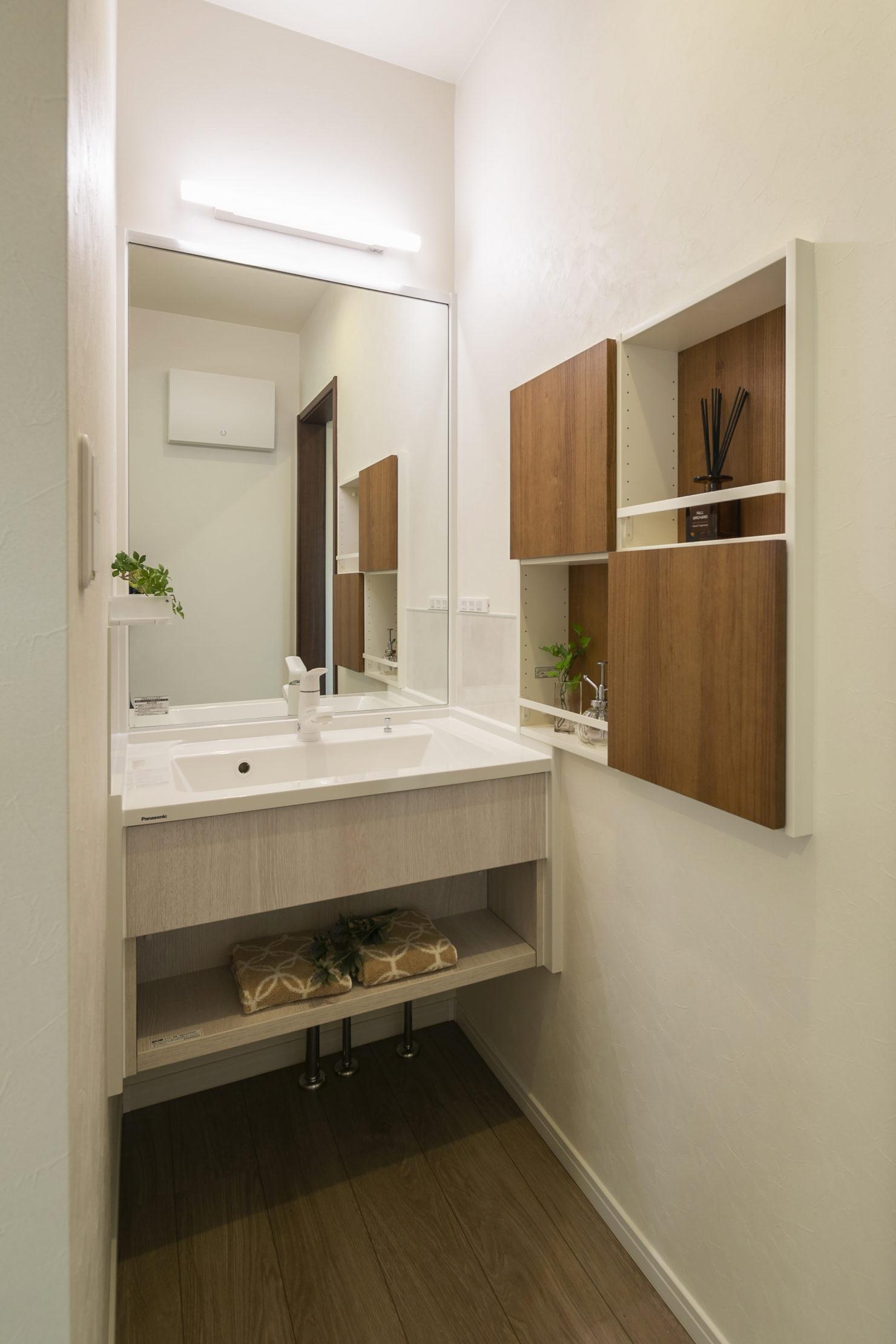 ハウスM21「片付けの習慣化でゆとりのある暮らし」洗面写真