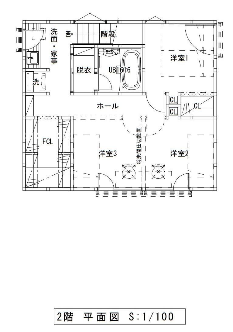 ハウスM21 盛岡市高松建売住宅 2F図面