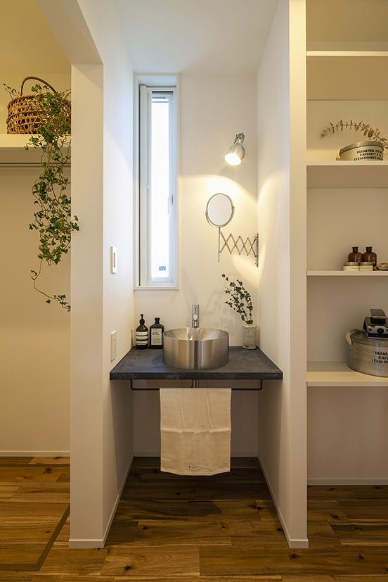 ハウスM21+archi「感性を大切にした住まい」1F手洗い写真