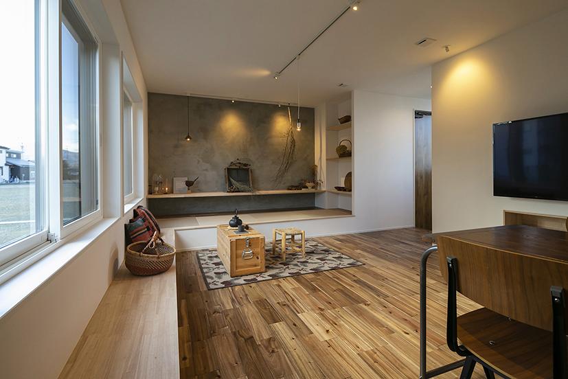 ハウスM21+archi「感性を大切にした住まい」リビング写真