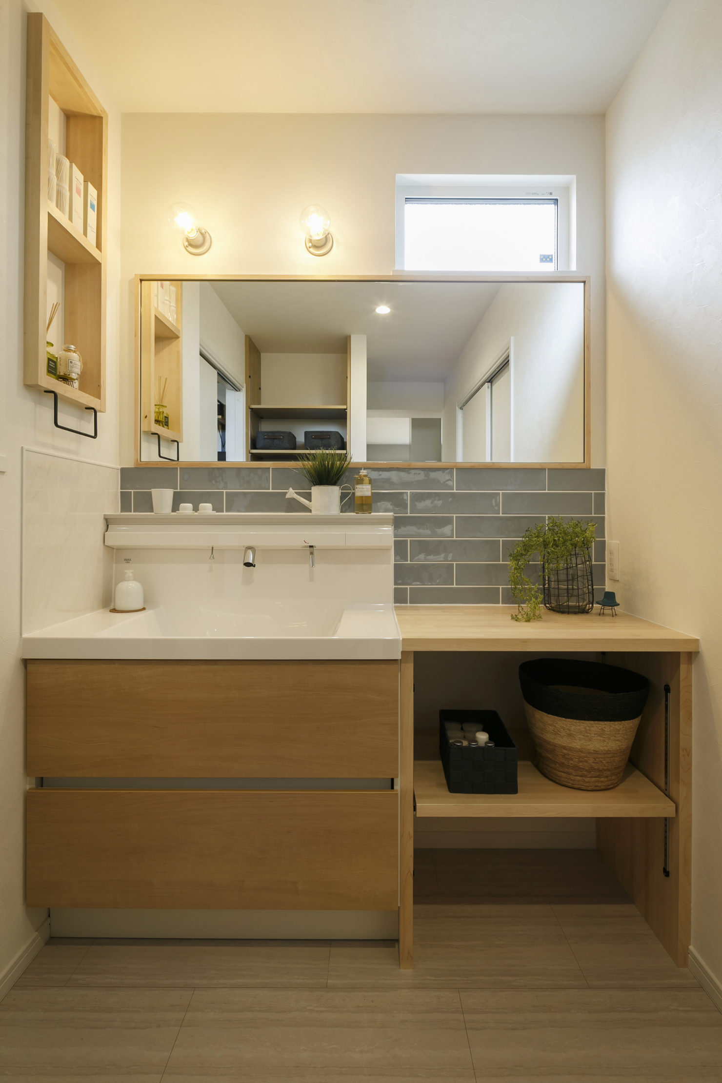 ハウスM21 施工例 洗面台